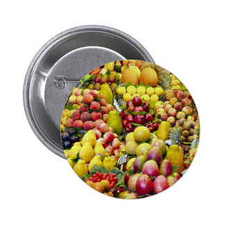 Eat more fruit pinback buttons