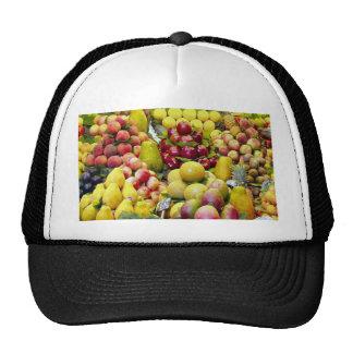 Eat more fruit mesh hat