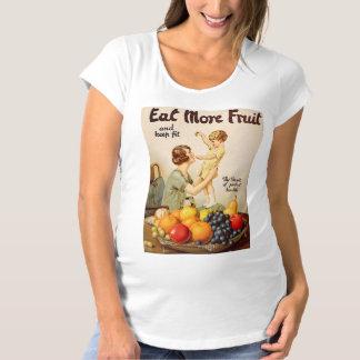 EAT MORE FRUIT maternity shirt