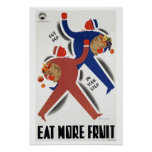 Eat More Fruit  ~ Vintage Australia Travel Poster