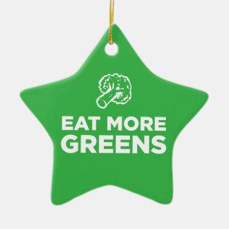 Eat More Greens Ceramic Ornament
