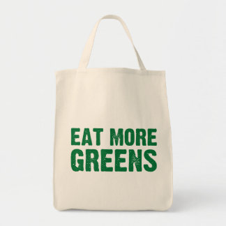 Eat More Greens Grocery Bag