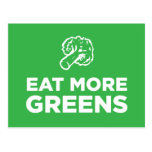 Eat More Greens Post Cards
