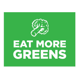 Eat More Greens Postcard