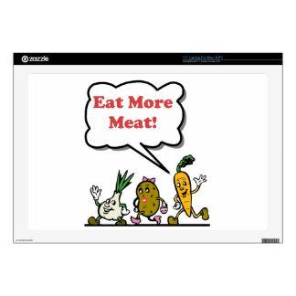 "Eat More Meat Skins For 17"" Laptops"