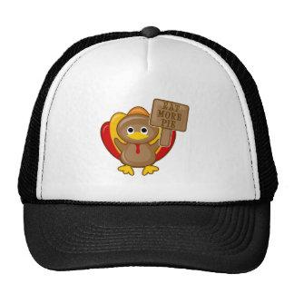 Eat More Pie Thanksgiving Turkey Trucker Hat