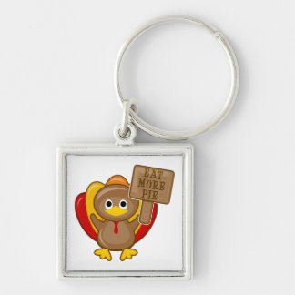 Eat More Pie Turkey Keychain
