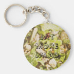 Eat more salad keychain