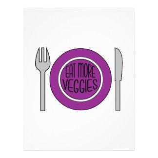 Eat More Veggies Letterhead Design