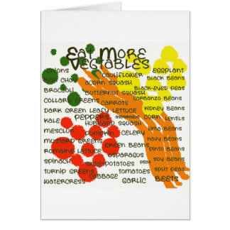 eat more vegtables card
