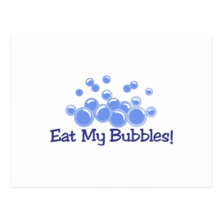 Eat My Bubbles Postcard