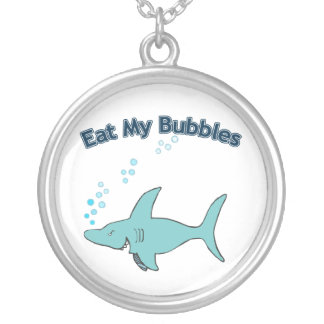 Eat My Bubbles Silver Plated Necklace