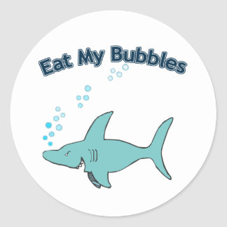 Eat My Bubbles Classic Round Sticker
