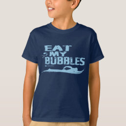 EAT MY BUBBLES SWIMMING T-SHIRT