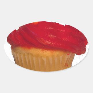 Eat my Cupcake Oval Sticker