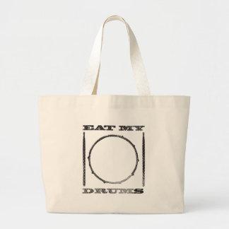 Eat my drums large tote bag
