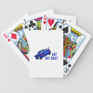 Eat My Dust Bicycle Playing Cards