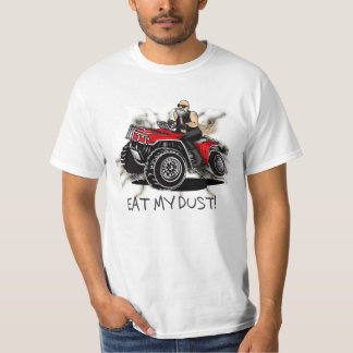 eat my dust! old man 4-wheeling in mud cartoon fun T-Shirt