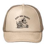 Eat My Dust, Old Man Biker Cap, Funny Caps at Zazzle