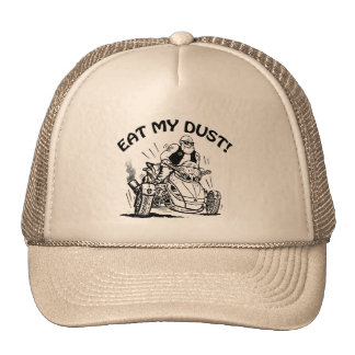 eat my dust, old man biker cap, funny caps mesh hats