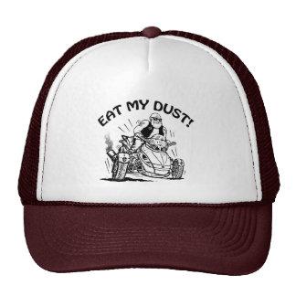 eat my dust, old man biker cap, funny caps hat