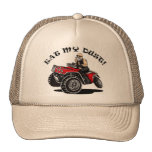 eat my dust, old man on 4 wheeler funny hats at Zazzle