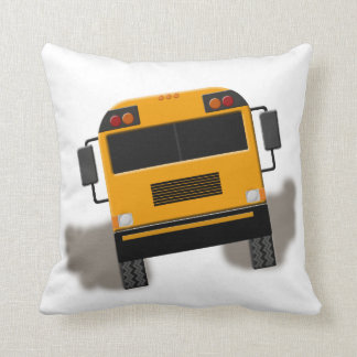 Eat My Dust School Bus Peeling Out Throw Pillow