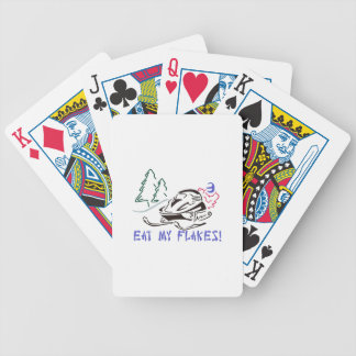 Eat My Flakes Bicycle Playing Cards