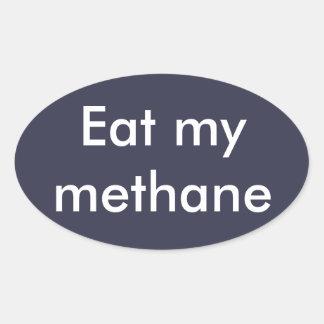 """Eat my methane"" snowboard, ski, skateboard Oval Sticker"