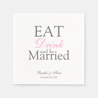 Eat n be Married Cocktail Napkin