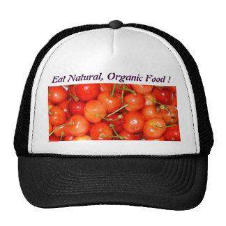 Eat Natural Organic Food - Hat - Fruits Cherries