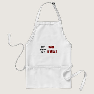 EAT NO EVIL ADULT APRON