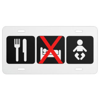 Eat No Sleep Baby License Plate