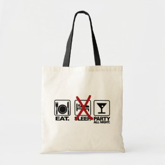 Eat - No Sleep - Party bag, choose style & color Tote Bag