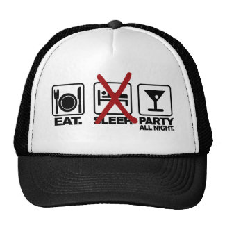 Eat - No Sleep - Party hat, choose color