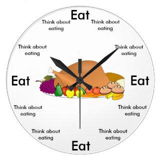 Eat O'Clock Round (Large) Wall Clock