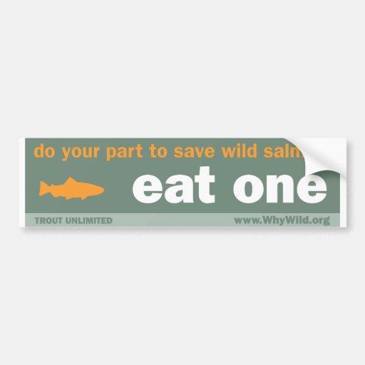 Eat One Bumper Sticker Car Bumper Sticker