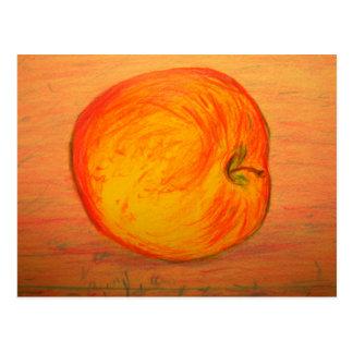 eat organic apples postcard