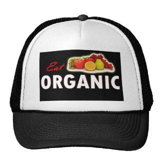 Eat Organic blk jpg Trucker Hats