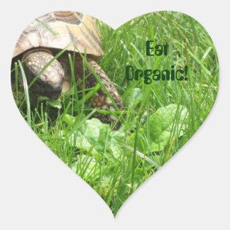 Eat Organic! Heart Sticker