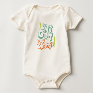 Eat Out For A Change Organic Onsie Baby Bodysuit