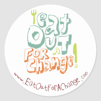 Eat Out For A Change Sticker