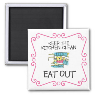 Eat Out Teddy Bear Magnet