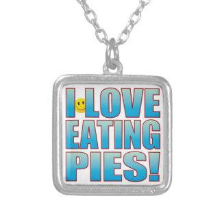 Eat Pies Life B Square Pendant Necklace