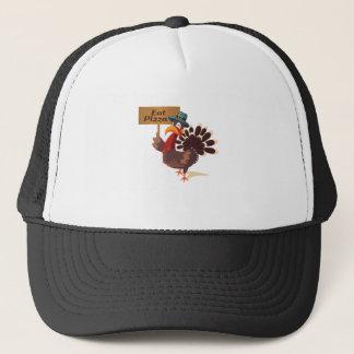 Eat Pizza Turkey Funny Thanksgiving Trucker Hat