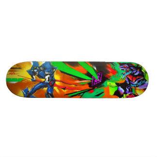 Eat Plasma, Sucka! - Grafitti Sk8 Art Skateboard