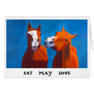 Eat Play Love greeting card
