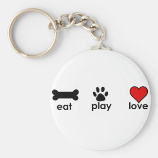 Eat.Play.Love. Llavero Redondo Tipo Pin