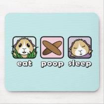 Eat Poop Sleep Guinea Pig Mousemat Mouse Pad