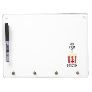 Eat Popcorn Z6pky Dry Erase Board With Keychain Holder
